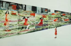 "01""The Station Square Series"" de Pipilotti Rist, 120 x 200 cm acrílico sobre tela"