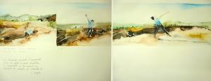 02 Pina de Wim Wenders, acuarela sobre papel, 36x98cm, díptico 2012