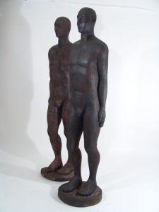 02I Hombre eco tallas de madera 180x60x40cm 2003