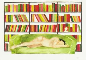 03.Las-derivas-de-Oriana.Sueño. Acuarela sobre papel, 30 x42 cm, 2009