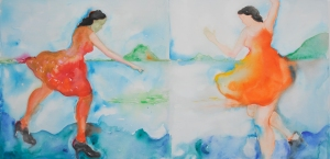 05 Ante el Video -Himalaya s Sister Living Room- de Pipilotti Rist 100x200