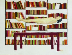 32-De la serie Mujeres flotantes, 40x55cm, acuarela sobre papel, 2007.