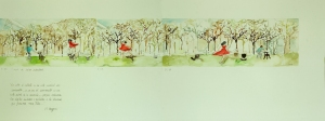 Pina de Wim Wenders_Leveza_36 x 98 cm_acuarela sobre papel_2012_baja