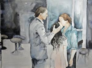 02 Mónica Dower Secuencia Cafe Muller de Pina Baush, acuarela sobre papel, 74 x104 cm, 2013