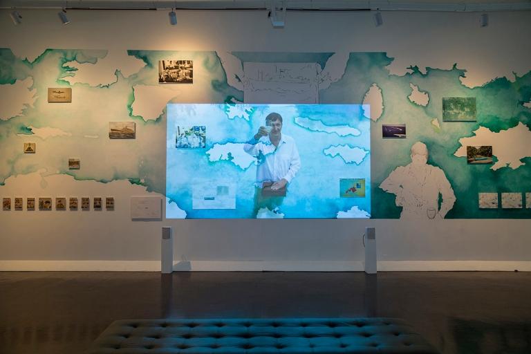 Vue génerale video República de altamar, installation pour le Laboratorio de arte Alameda juin 2016