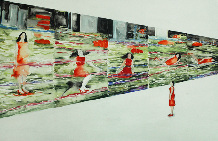 02-The Station square series de Pipilotti Rist, 120 x 200 cm, acrílico sobre tela, 2011.jpg
