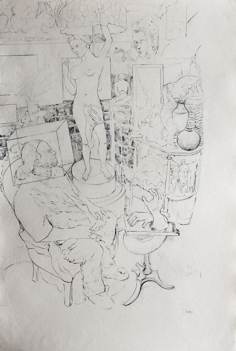14 Atl y abuelo, grafito sobre papel, 100 x70cm, 2016.jpg