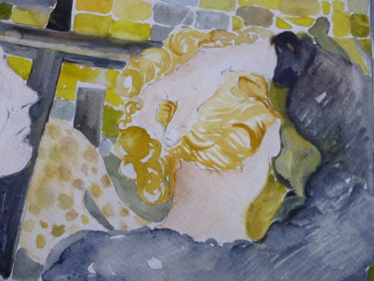 21 Detalle,  La Jetée de Chris Marker 38 x 144 cm, acuarela sobre papel,2012.jpg