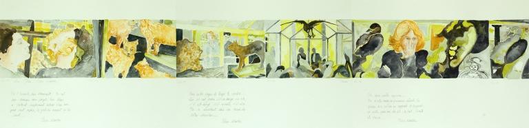 22 La Jetée de Chris Marker 38 x 144 cm, acuarela sobre papel,2012.jpg