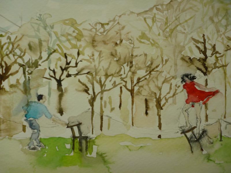 23 Detalle, Pina de Wim Wenders, 36 x98 cm, acuarela sobre papel, 2012 .jpg