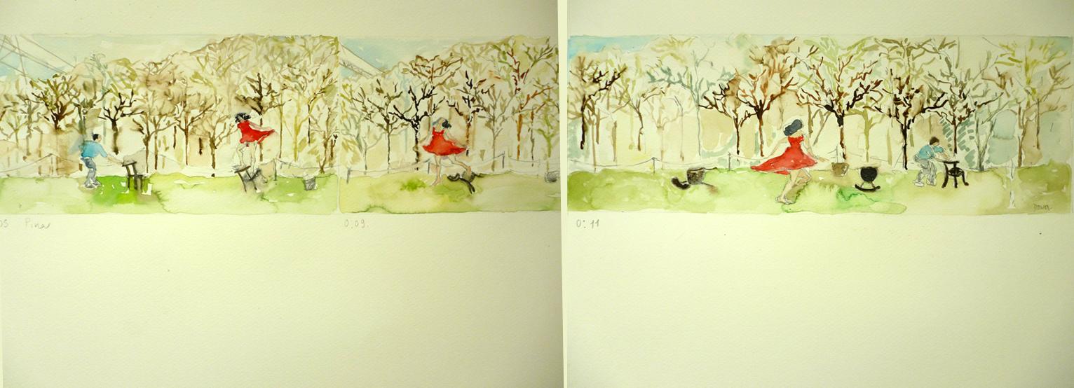 24 Pina de Wim Wenders, 36 x98 cm, acuarela sobre papel, 2012 .jpg