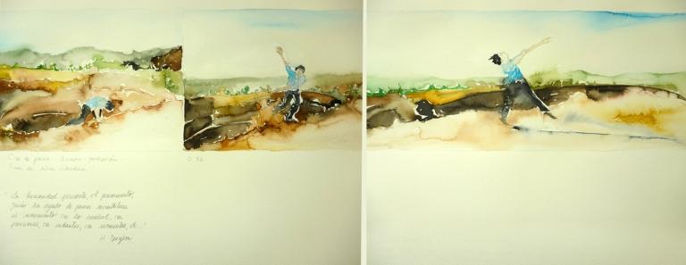 25 Pina, de Wim Wenders, acuarela sobre papel, 36 x 98cm, 2012 .jpg