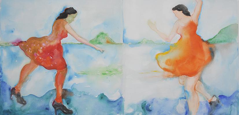 28 Ante el Video -Himalaya´ s Sister Living Room de Pipilotti Rist 100 x 200 cm, 2011.jpg