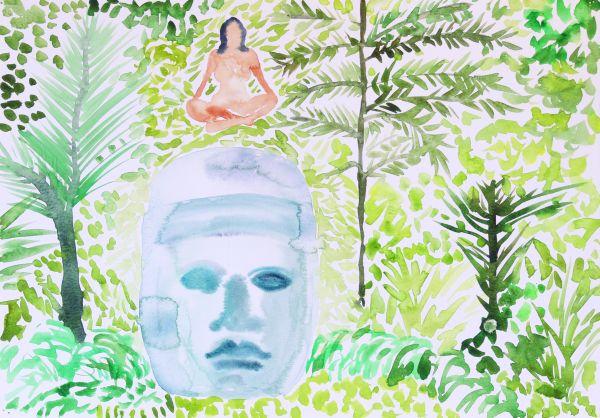 1-De la serie Mujeres  flotantes , acuarela  sobre papel, 27x38cms, 2008.jpg