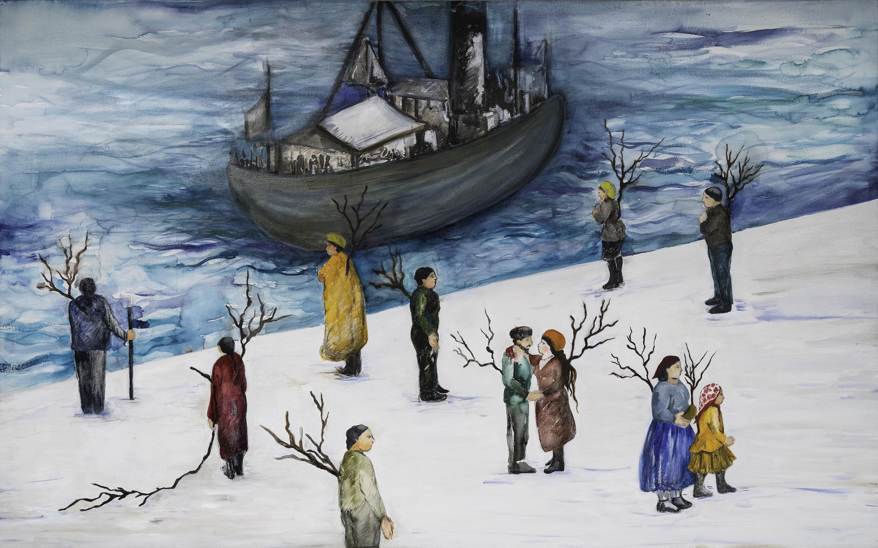 02 Monica Dower, Serie Buscando raíces, Migrantes con sus raíces aéreas, 100 x 160 cm, 2019 .jpg